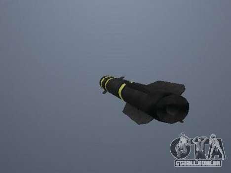 O novo míssil para GTA San Andreas terceira tela