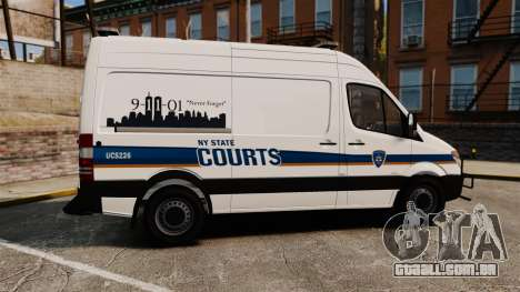 Mercedes-Benz Sprinter 2500 Prisoner Transport para GTA 4 esquerda vista