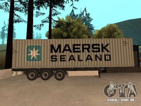 Reboque MAERSK para GTA San Andreas