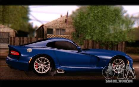SRT Viper Autovista para GTA San Andreas vista interior