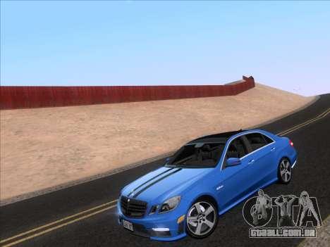 Mercedes-Benz E63 AMG 2011 Special Edition para GTA San Andreas traseira esquerda vista