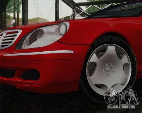 Mercedes-Benz S600 Biturbo 2003 para GTA San Andreas traseira esquerda vista