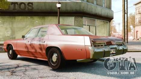 Dodge Monaco 1974 para GTA 4 vista direita