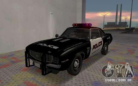 Chevrolet Camaro SS Police para GTA San Andreas