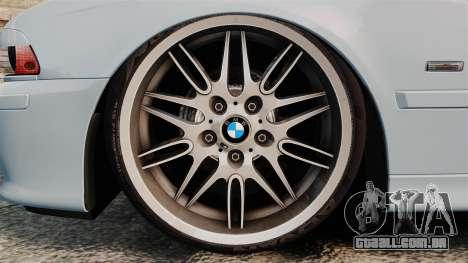BMW M5 E39 2003 para GTA 4 vista de volta