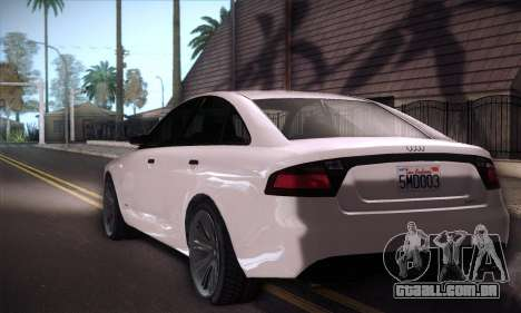 GTA V Tailgater para GTA San Andreas vista traseira
