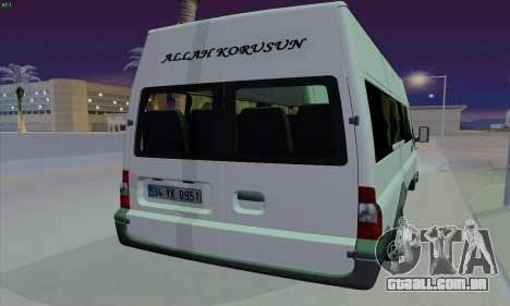 Ford Transit Jumgo para GTA San Andreas vista traseira
