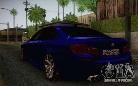 BMW M5 F10 v2 para GTA San Andreas esquerda vista