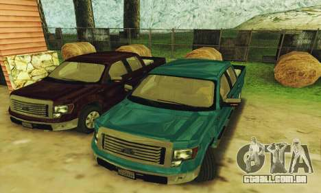 Ford F150 XLT Supercrew Trim para GTA San Andreas esquerda vista