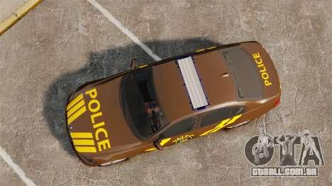 BMW 350i Indonesia Police v2 [ELS] para GTA 4 vista direita