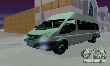 Ford Transit Jumgo para GTA San Andreas vista superior