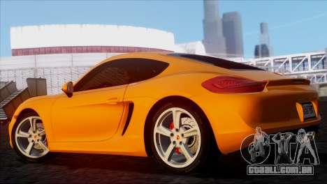 Porsche Cayman S 2014 para GTA San Andreas esquerda vista