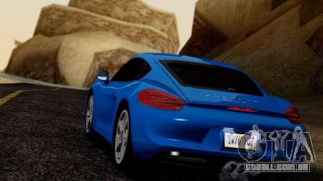 Porsche Cayman S 2014 para GTA San Andreas vista direita