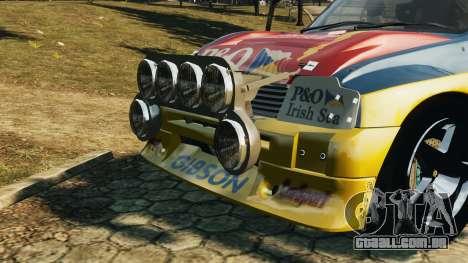 MG Metro 6r4 para GTA 4 traseira esquerda vista