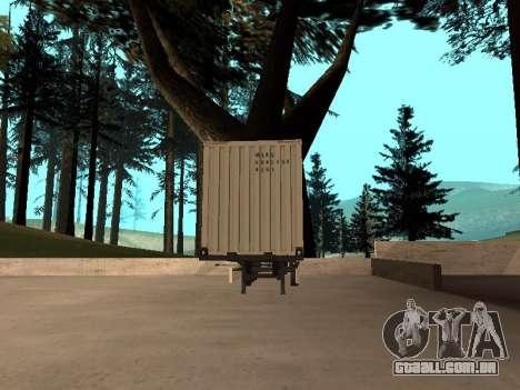 Reboque MAERSK para GTA San Andreas traseira esquerda vista
