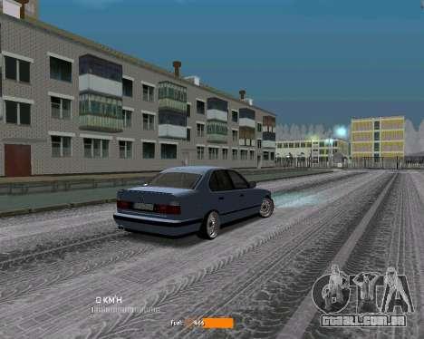 BMW E34 JDM para GTA San Andreas vista direita