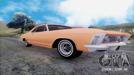 Buick Riviera 1963 para GTA San Andreas vista traseira