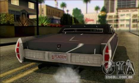 Cadillac Deville Lowrider 1967 para GTA San Andreas esquerda vista