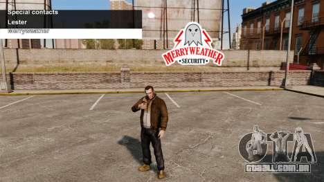 Serviços especiais Merryweather e Lester para GTA 4
