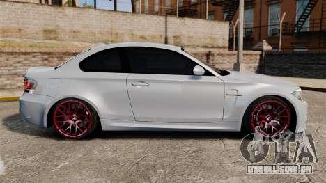 BMW 1 M 2011 para GTA 4 esquerda vista