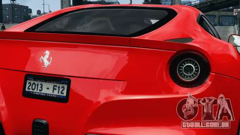 Ferrari F12 Berlinetta 2013 Modified Edition EPM para GTA 4 vista direita