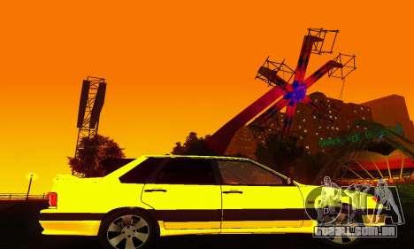 VAZ 2115 luz Tuning para GTA San Andreas vista traseira