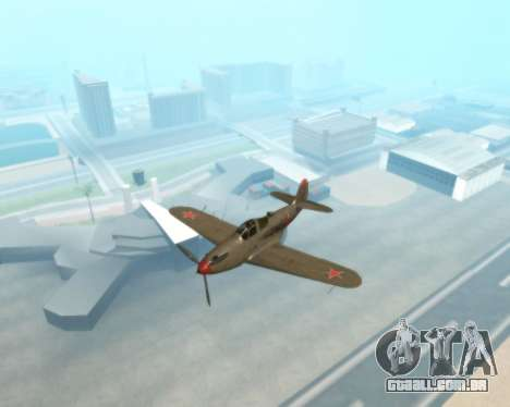 Aircobra P-39N para GTA San Andreas vista traseira
