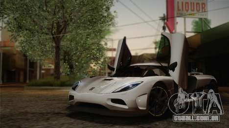 Koenigsegg Agera para GTA San Andreas vista inferior