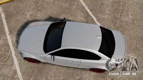 BMW 1 M 2011 para GTA 4 vista direita