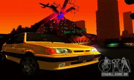 VAZ 2115 luz Tuning para GTA San Andreas vista interior
