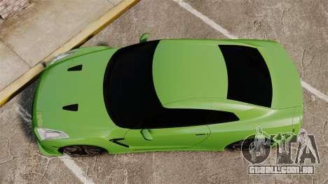 Nissan GT-R SpecV 2010 para GTA 4 vista direita