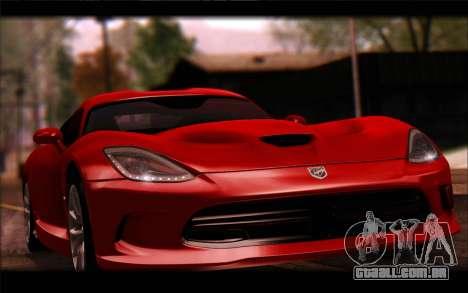 SRT Viper Autovista para GTA San Andreas vista traseira
