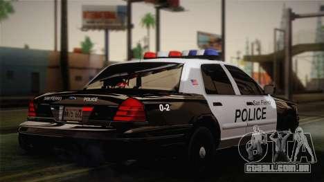 Ford Crown Victoria 2005 Police para GTA San Andreas traseira esquerda vista