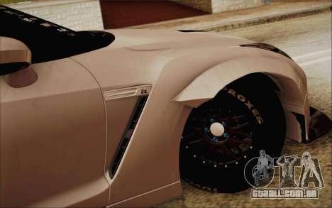 Nissan GT-R Liberty Walk para GTA San Andreas traseira esquerda vista