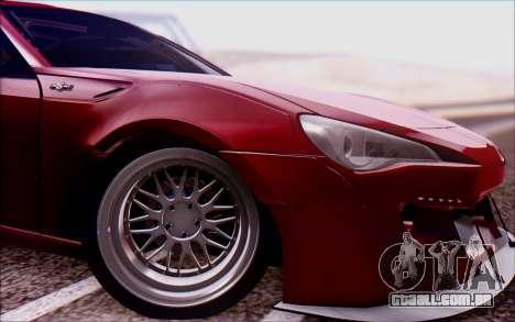 Toyota GT86 Rocket Bunny v2 para GTA San Andreas traseira esquerda vista