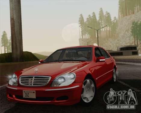 Mercedes-Benz S600 Biturbo 2003 para GTA San Andreas vista traseira
