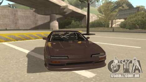 Nissan Silvia S13 para GTA San Andreas esquerda vista