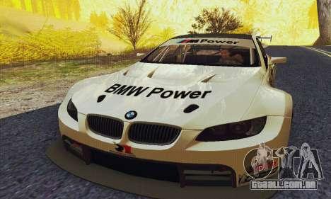 BMW M3 GT2 E92 ALMS para GTA San Andreas vista traseira