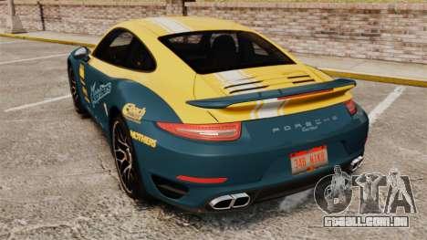 Porsche 911 Turbo 2014 [EPM] Alpinestars para GTA 4 traseira esquerda vista