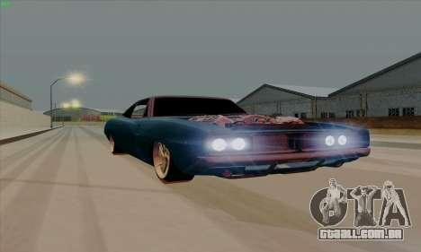 Dodge Charger 1969 Big Muscle para GTA San Andreas esquerda vista