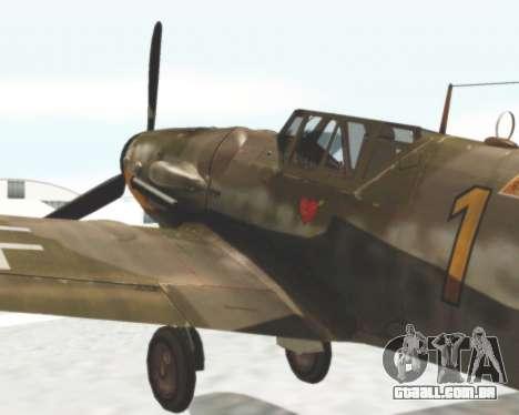 Bf-109 G6 para GTA San Andreas traseira esquerda vista