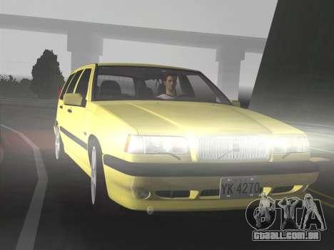 Volvo 850 R Estate para GTA Vice City vista traseira esquerda