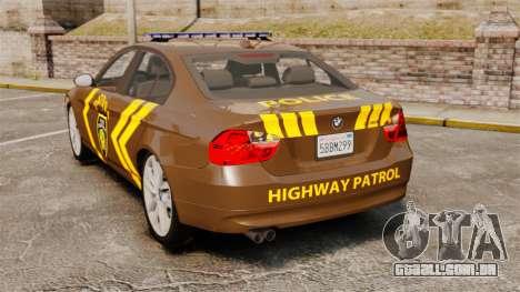 BMW 350i Indonesia Police v2 [ELS] para GTA 4 traseira esquerda vista