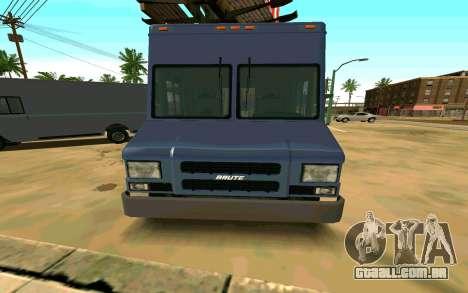 Boxville de GTA 4 para GTA San Andreas traseira esquerda vista