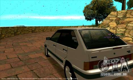 ВАЗ 2114 para GTA San Andreas vista interior
