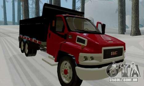 GMC C4500 Topkick para GTA San Andreas esquerda vista