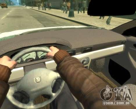 GAZ Volga Sajber para GTA 4 vista de volta