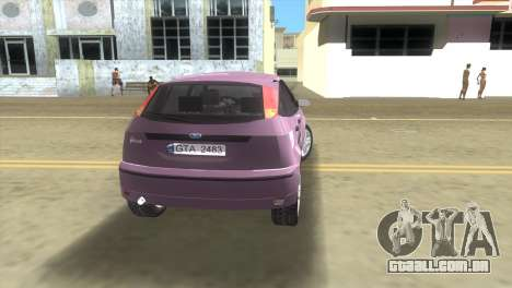 Ford Focus SVT para GTA Vice City vista traseira esquerda