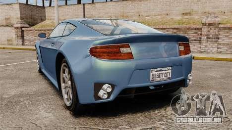 GTA V Rapid GT para GTA 4 traseira esquerda vista