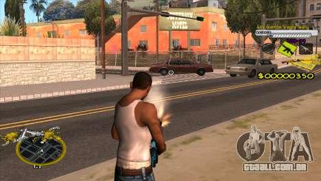 C-HUD Vagos Gang para GTA San Andreas segunda tela